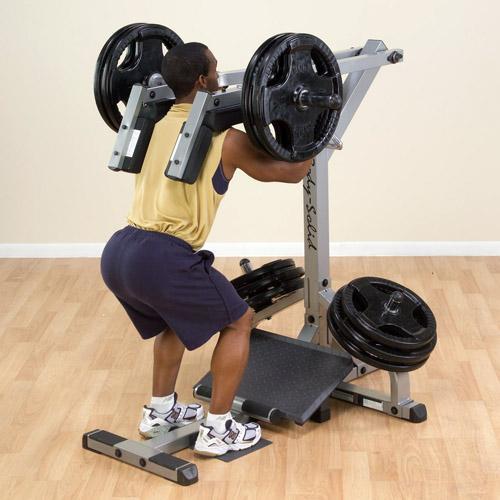 leverage squat calf raise machine