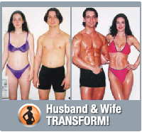 Husband & wife burn fat and build muscle naturally