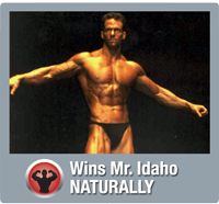 Wins Mr. Idaho naturally with MuscleNOW
