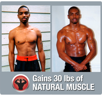 Gains 30 lbs of muscle in 3 months without supplements