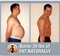 Josh burns 39 lbs of fat and eliminates pot belly