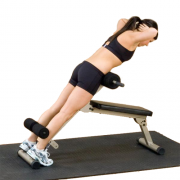 Best Fitness Ab Board / Hyperextension BFHYP10 - reverse crunches