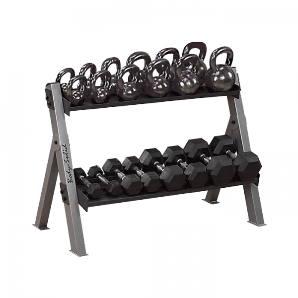 Body-Solid Dumbbell & Kettlebell Rack [GDKR100]