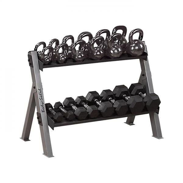 Body-Solid Dumbbell & Kettlebell Rack [GDKR100]