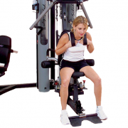 Body-Solid G10B Bi-Angular Home Gym - seated crunches
