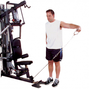 Body-Solid G10B Bi-Angular Home Gym - side shoulder laterals
