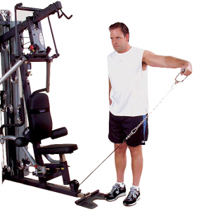 Body-Solid G10B Bi-Angular Home Gym - side shoulder laterals
