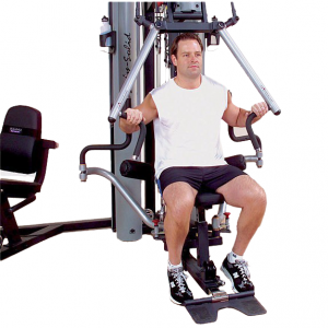 Body-Solid G10B Bi-Angular Home Gym - vertical chest press