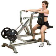 Body Solid Leverage Seated Row LVSR female demo
