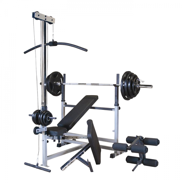 Body-Solid PowerCenter Combo Bench with Lat Pulldown / Row Attachments [GDIB46LP4]