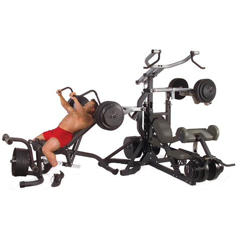 Body-Solid Powerlift Freeweight Leverage Gym SBL460P4 - incline bench press