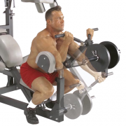 Body-Solid Powerlift Freeweight Leverage Gym SBL460P4 - biceps preacher curls
