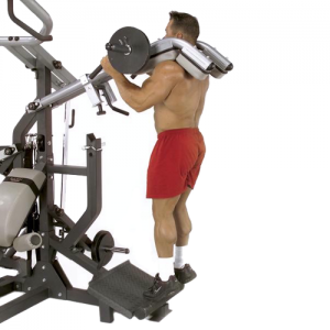 Body-Solid Powerlift Freeweight Leverage Gym SBL460P4 - calf raises