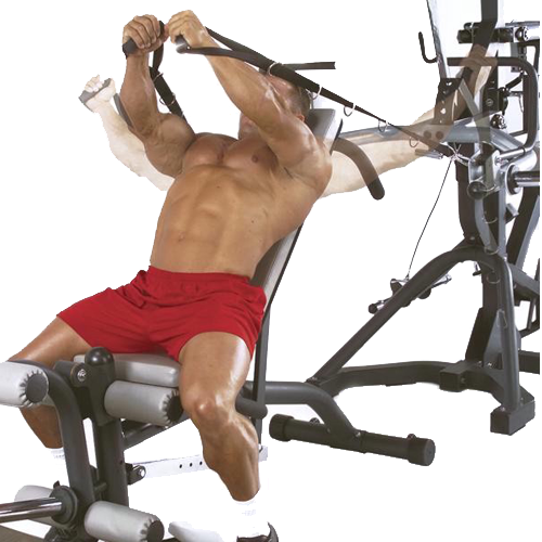Body-Solid Powerlift Freeweight Leverage Gym SBL460P4 - cable pec flies