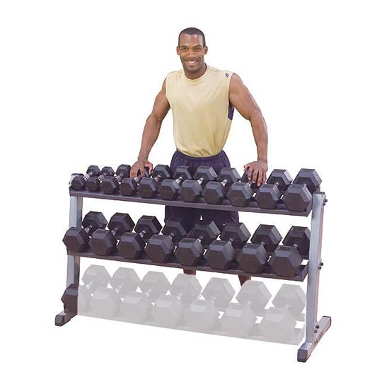 Body-Solid Pro 2 Tier Horizontal Dumbbell Rack [GDR60]