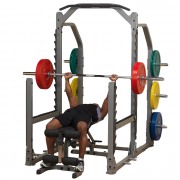 Body-Solid Pro Clubline Multi Squat Rack SMR1000 - Flat Bench Press