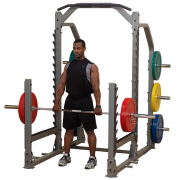 Body-Solid Pro Clubline Multi Squat Rack SMR1000 - Shrugs