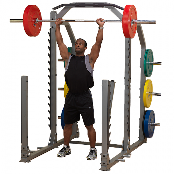 Body-Solid Pro Clubline Multi Squat Rack SMR1000 - Shoulder Press