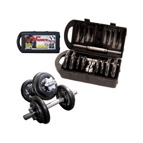 Cap Barbell 40 lb Dumbbell Set with Carrying Case [RSWB-40TP]
