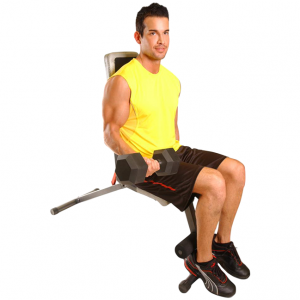 Cap Barbell Flat / Incline / Decline Weight Bench [FM-704] - biceps curls