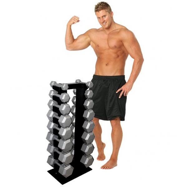 Deltech Fitness 8 Pair Vertical Dumbbell Rack [DF5200]