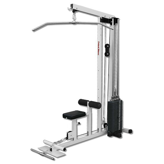 Deltech Fitness Lat Machine With 200 lb Weight Stack [DF908]
