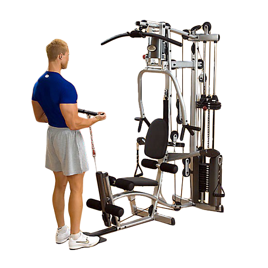 Powerline P2X Home Gym - biceps curls