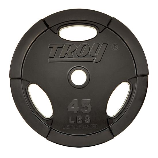 Troy Interlocking Rubber Encased 3 Grip Weight Plates [GOR]