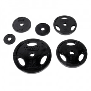 Troy Interlocking Rubber Encased 3 Grip Weight Plates [GOR]