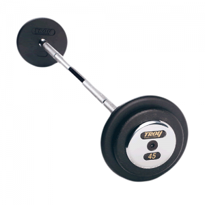 Troy Pro Style Straight Barbells with Black Weight Plates [PFB]