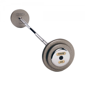 Troy Pro Style Straight Barbells with Gray Weight Plates [HFB]