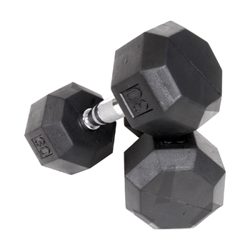 Troy VTX Pro 8-Sided Rubber Encased Dumbbells [SD-R]