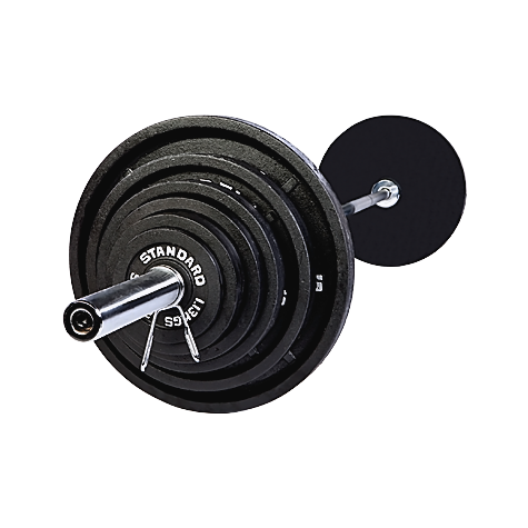 USA Sports 300 lb Black Olympic Weight Set with Bar [BOSS-300]