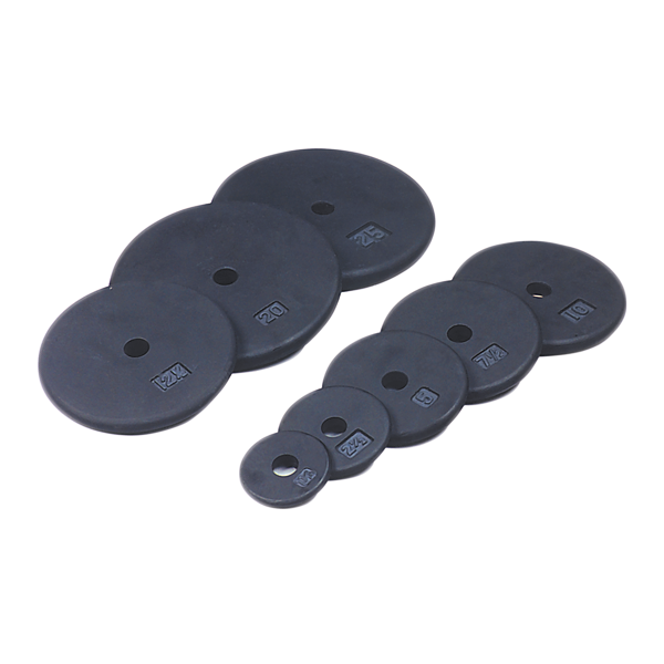 USA Sports Standard One-Inch Size Weight Plates (Black) [BR-USA]
