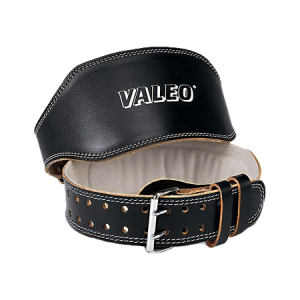 "Valeo Leather 4"" Lifting Belt (Black) [VRL BLACK VA4686]"