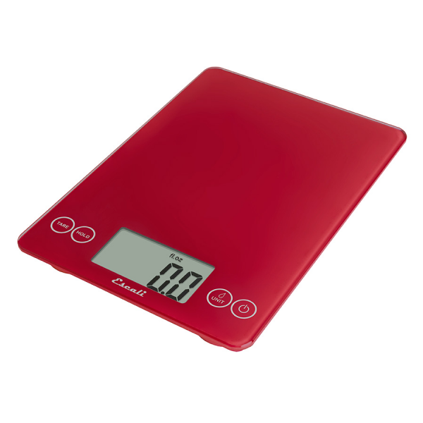 Escali Arti Flass Digital Scale (Retro Red) [157RR]