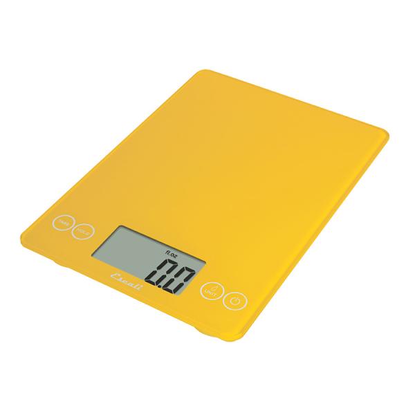 Escali Arti Glass Digital Scale (Solar Yellow) [157SY]