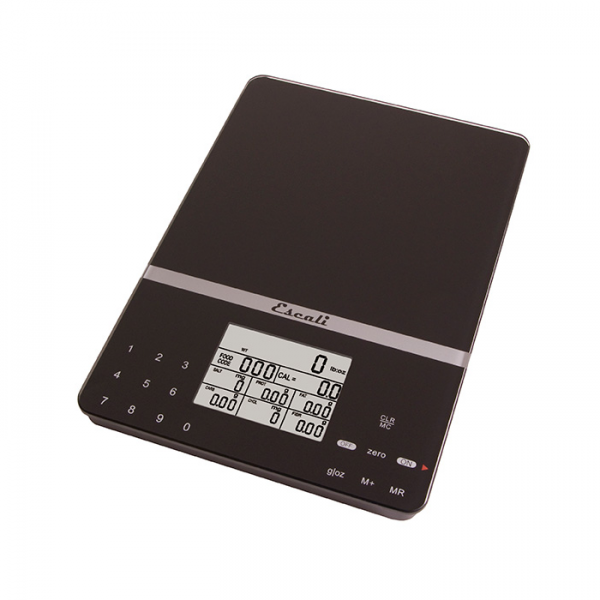 Escali Cesto Portable Nutritional Scale (Black) [115NB]