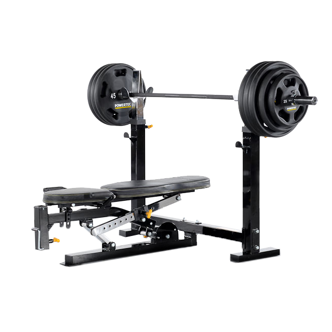 utility wb from market available powertec p lat optional bench also rack in half workbench weight tower fitness option black