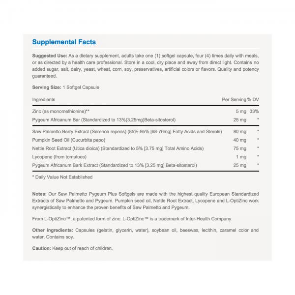 Vitabase Prostate Support (Nutrition Label)