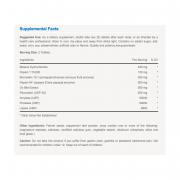 Vitabase Superzymes Nutrition Label