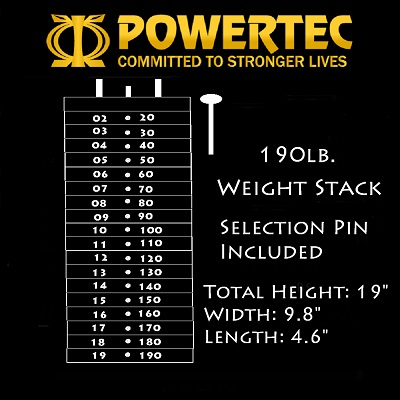 Powertec 190 lb. Weight Stack [WS-190]