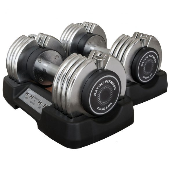 Bayou Fitness Pair of 50 lb. Adjustable Dumbbells [BF-0250]