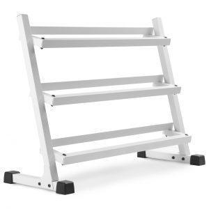 XMark Fitness 4 ft. 3 Tier Dumbbell Rack [XM-3107.1-WHITE]