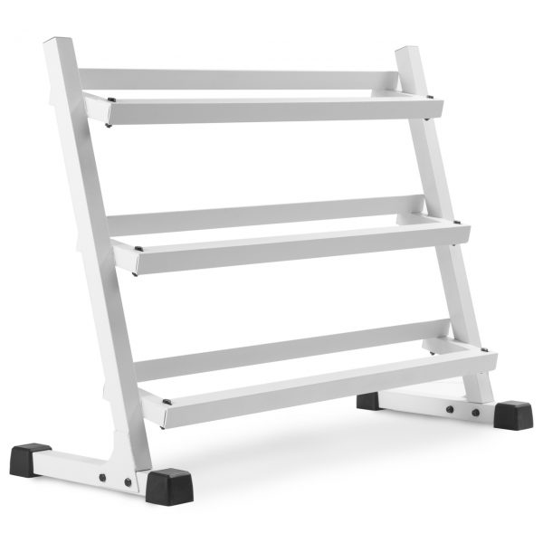 XMark Fitness 4 ft. 3 Tier Dumbbell Rack [XM-3107.1-WHITE]