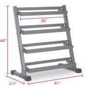XMark Fitness 3 ft. 4 Tier Dumbbell Rack [XM-3109.1]
