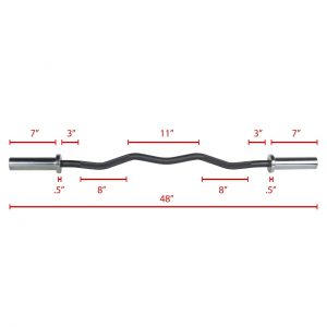 XMark Fitness Olympic EZ Curl Bar [XM-3670.1-BLACK]