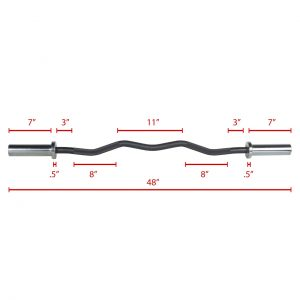 XMark Fitness Olympic EZ Curl Bar [XM-3675-BLACK]