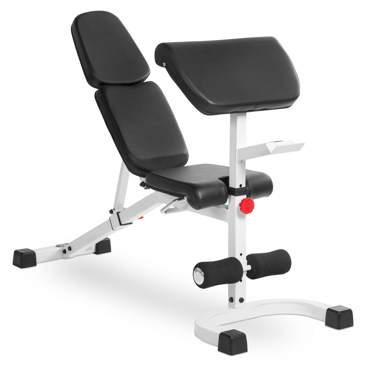 Xmark Fitness Flat Incline Decline Bench With Preacher
