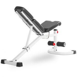 XMark Fitness Flat / Incline / Decline Bench with Preacher Curl [XM-4417-WHITE]